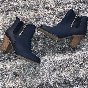 Blue Aldo booties